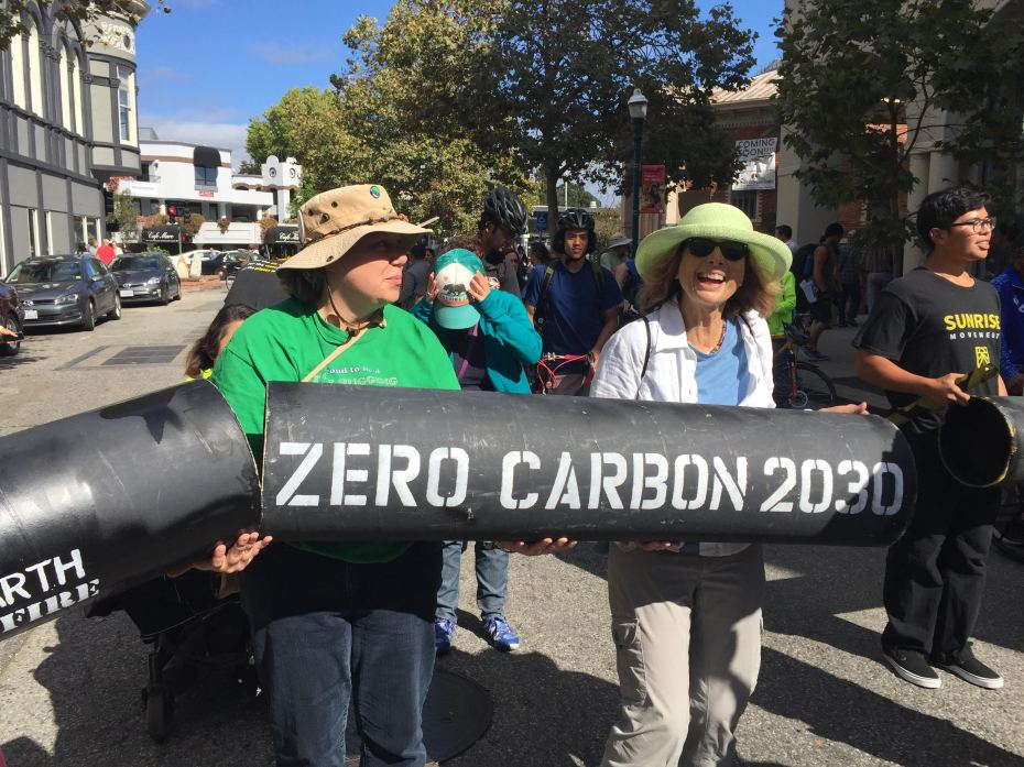 Michelle and friends marching in the September 2019 Climate Strike in Santa Cruz, California. Photo from Santa Cruz Climate Action Network - scruzclimate.org